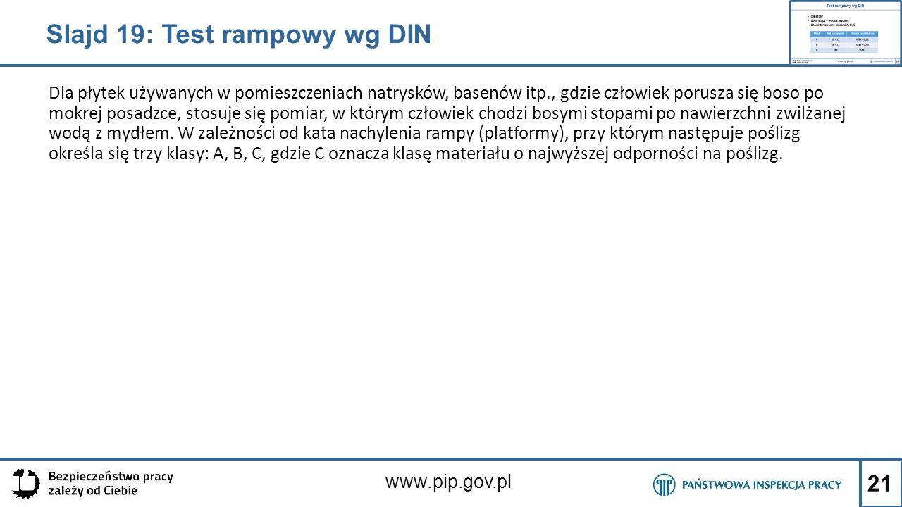Slajd 19: Test rampowy wg DIN