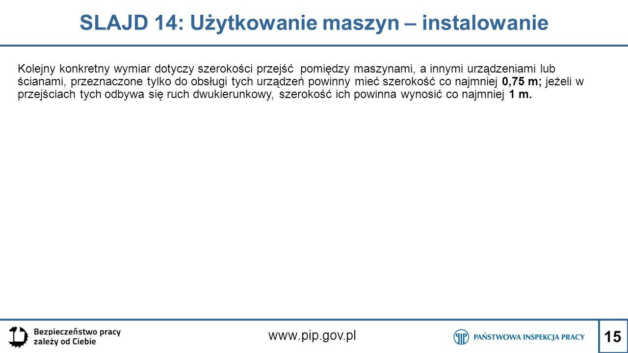 SLAJD 14: Użytkowanie maszyn – instalowanie