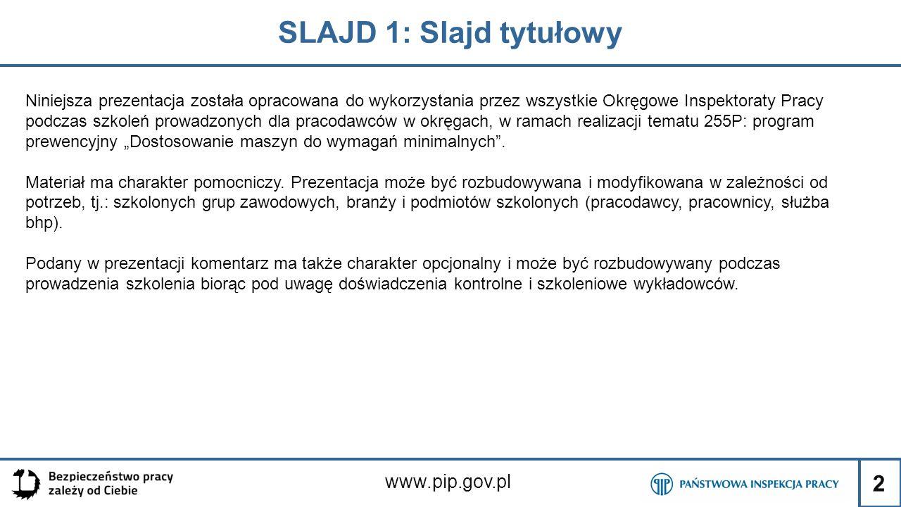 SLAJD 1: Slajd tytułowy www.pip.gov.pl
