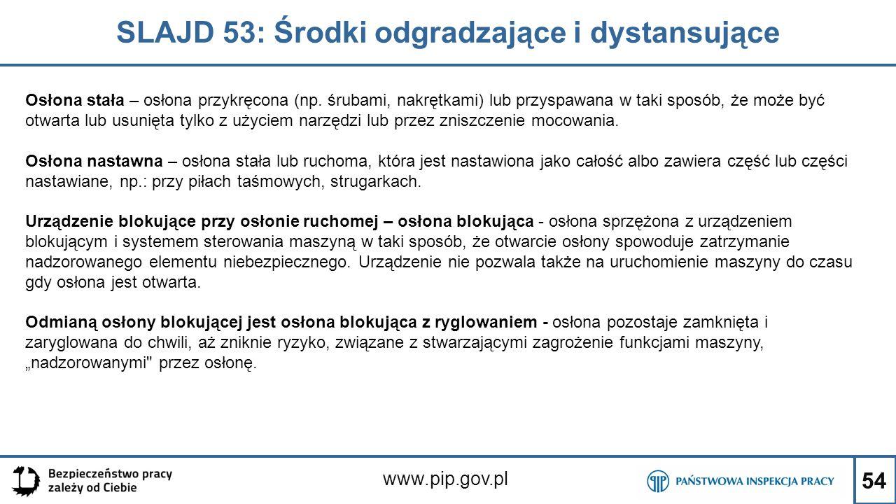 SLAJD 53: Środki odgradzające i dystansujące