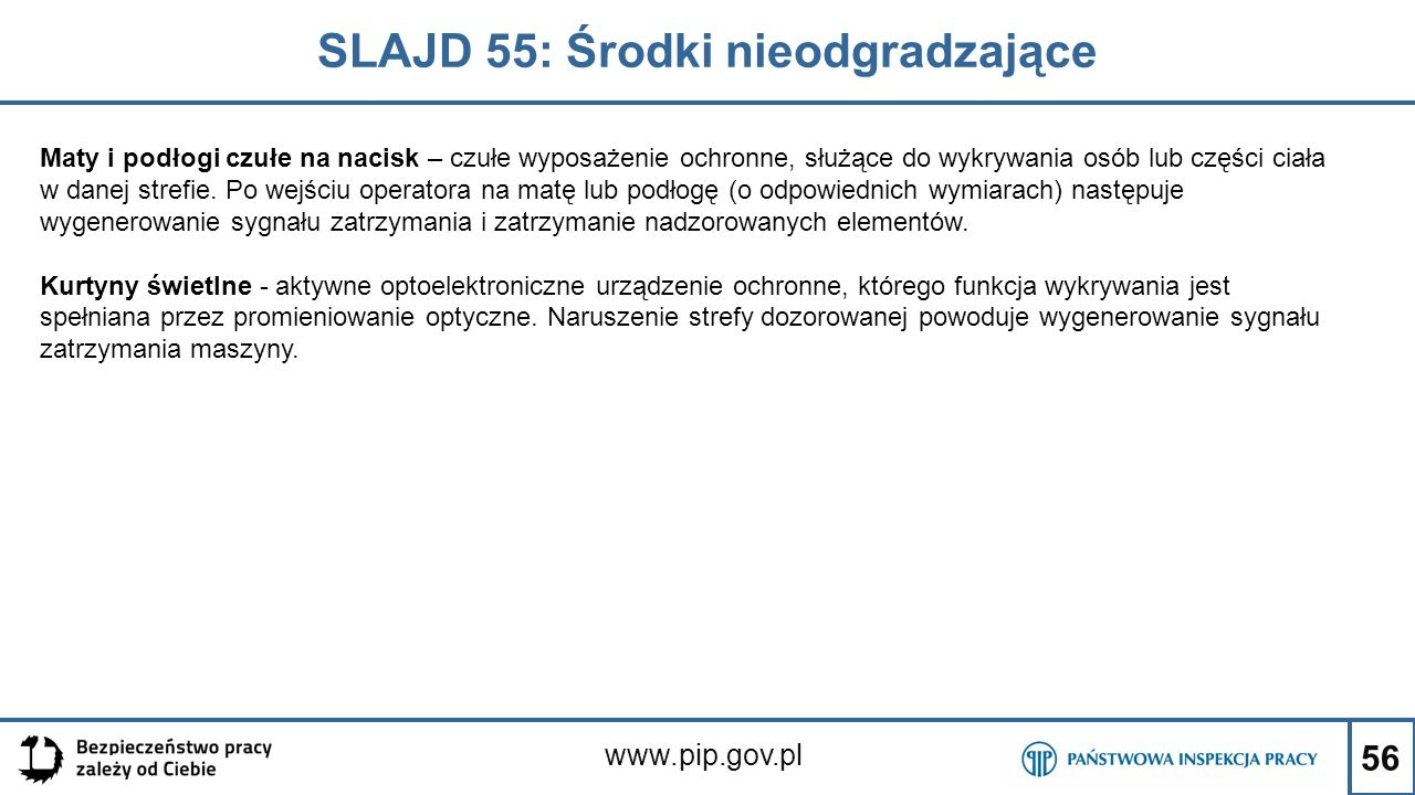 SLAJD 55: Środki nieodgradzające