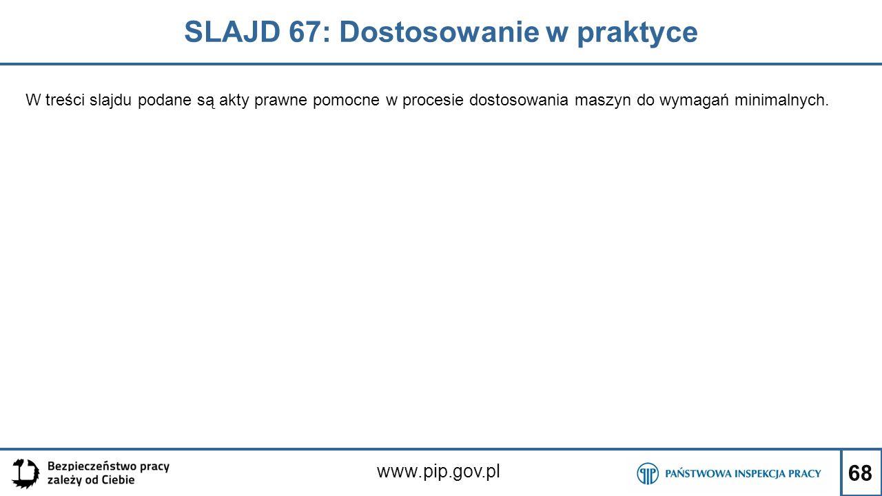 SLAJD 67: Dostosowanie w praktyce