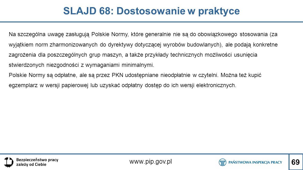 SLAJD 68: Dostosowanie w praktyce