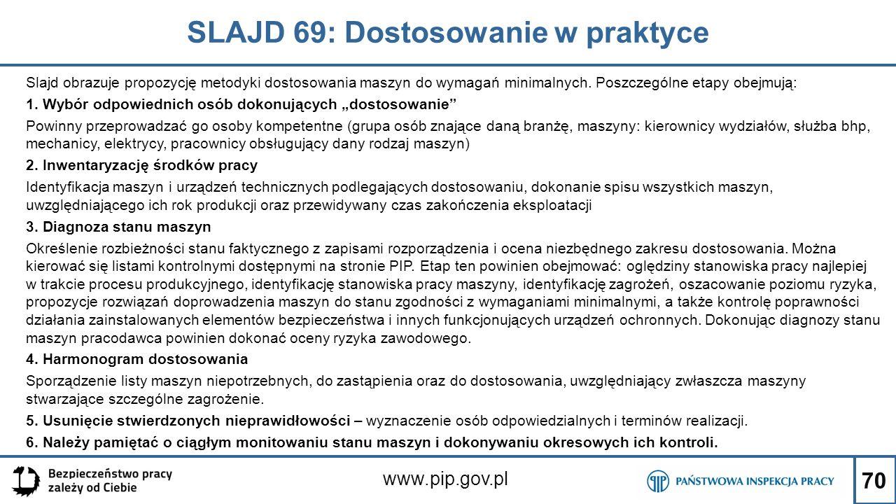 SLAJD 69: Dostosowanie w praktyce