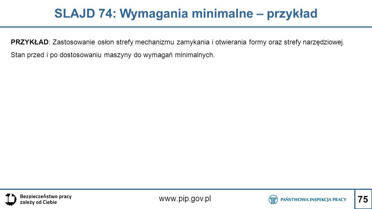SLAJD 74: Wymagania minimalne – przykład