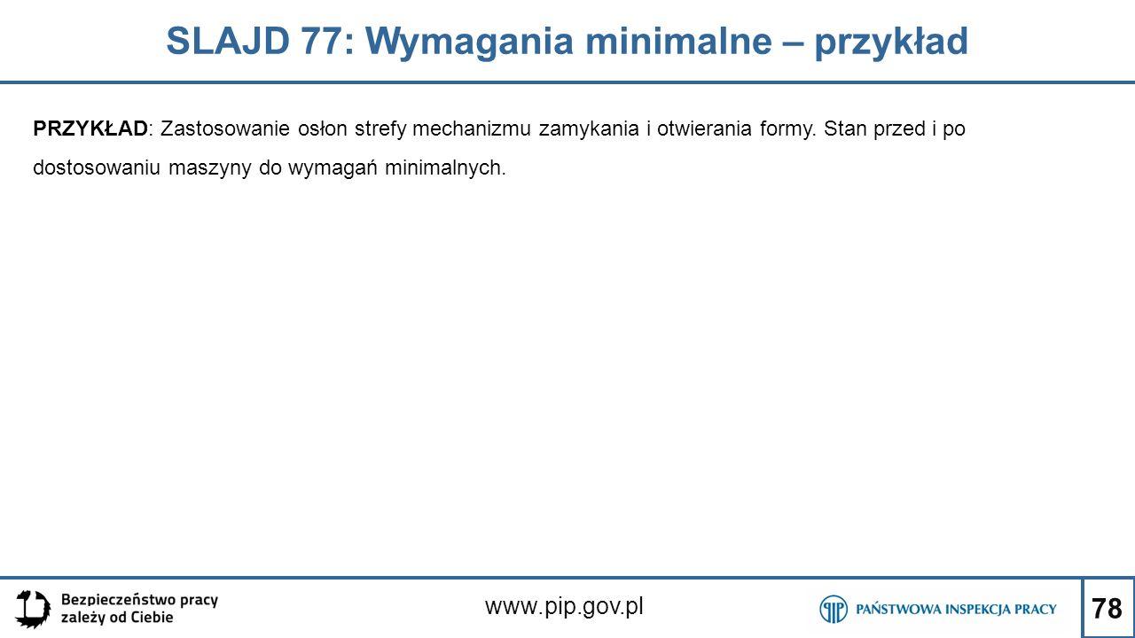 SLAJD 77: Wymagania minimalne – przykład