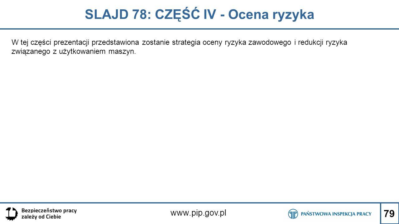 SLAJD 78: CZĘŚĆ IV - Ocena ryzyka
