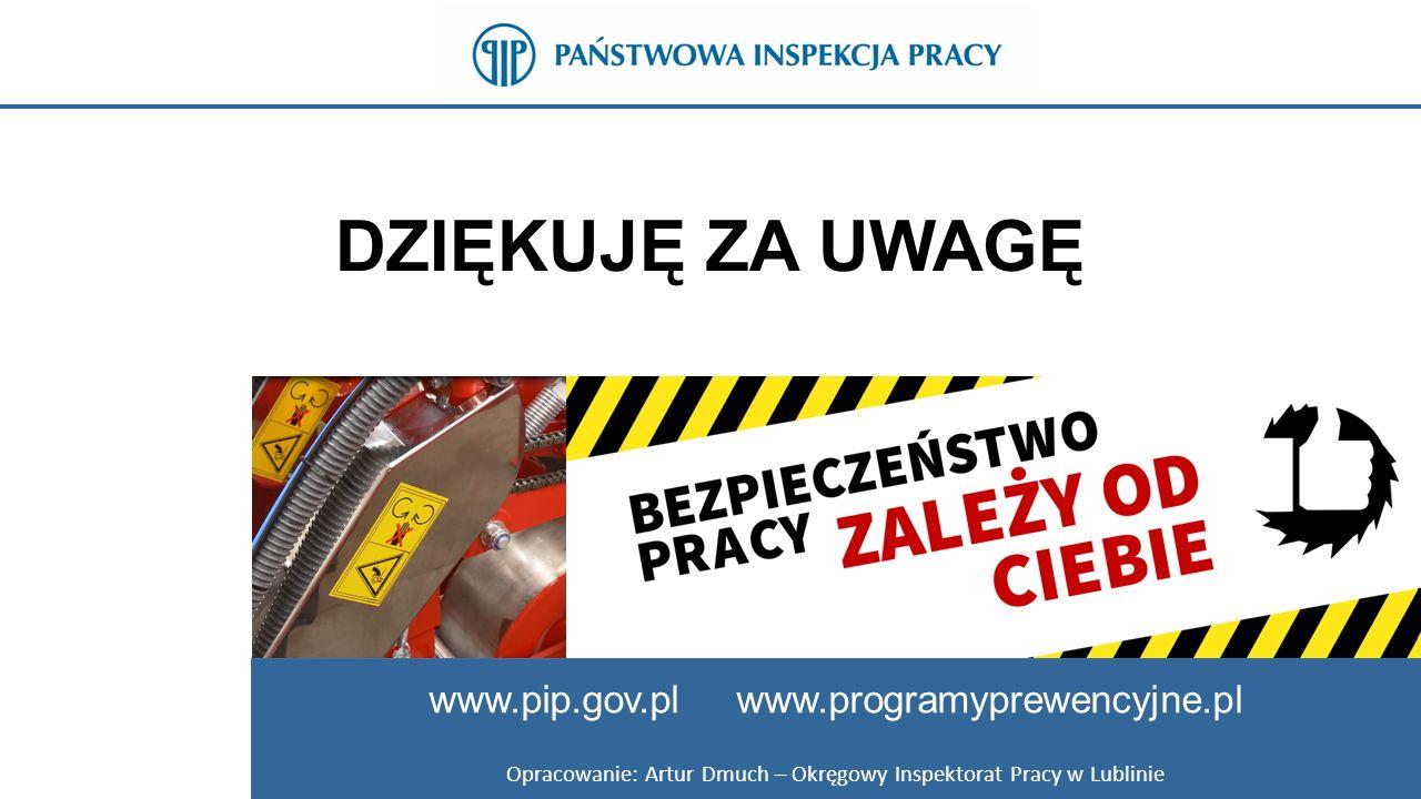 Opracowanie: Artur Dmuch – Okręgowy Inspektorat Pracy w Lublinie
