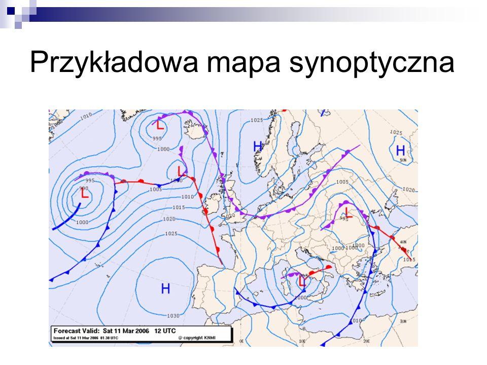 Przykładowa mapa synoptyczna