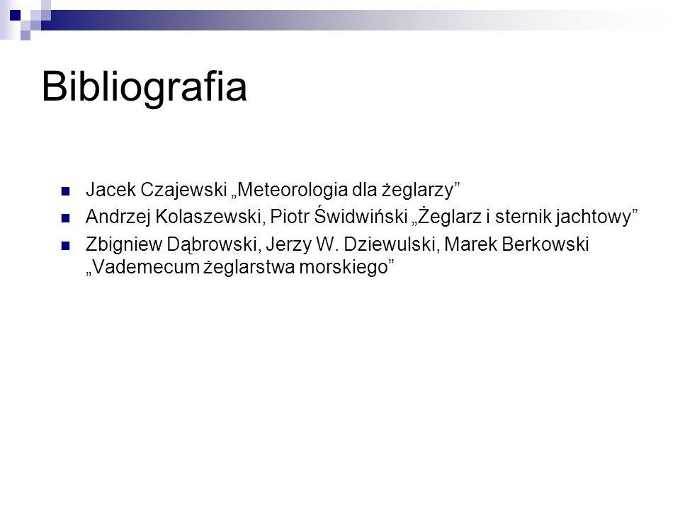 """Bibliografia Jacek Czajewski """"Meteorologia dla żeglarzy"""