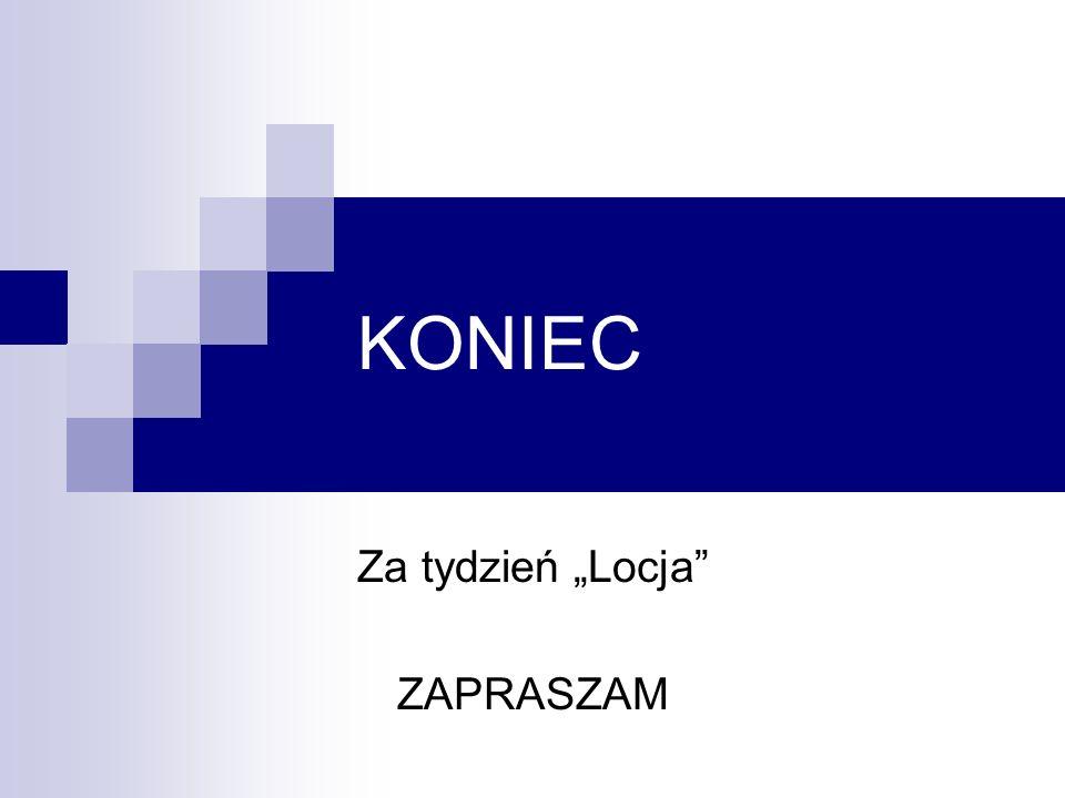 """Za tydzień """"Locja ZAPRASZAM"""