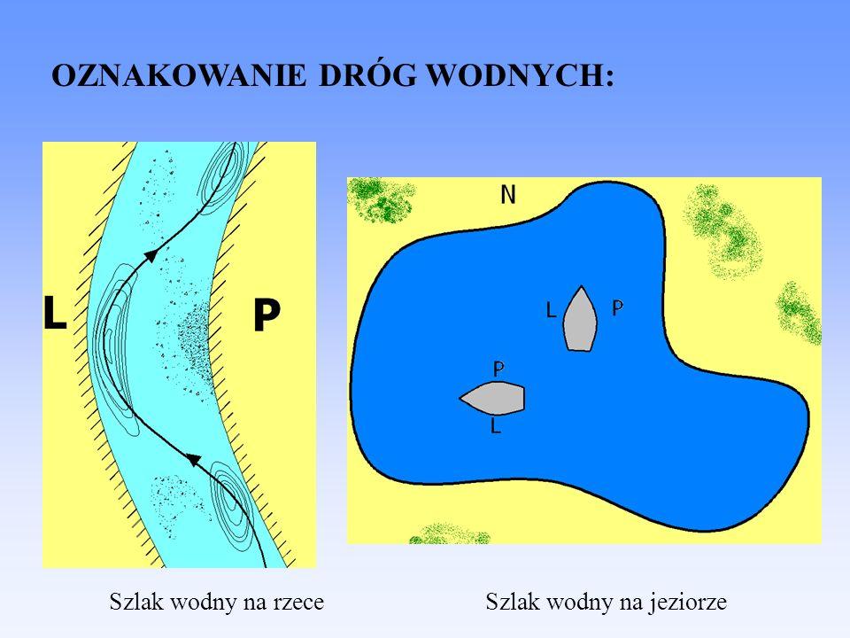 Szlak wodny na jeziorze