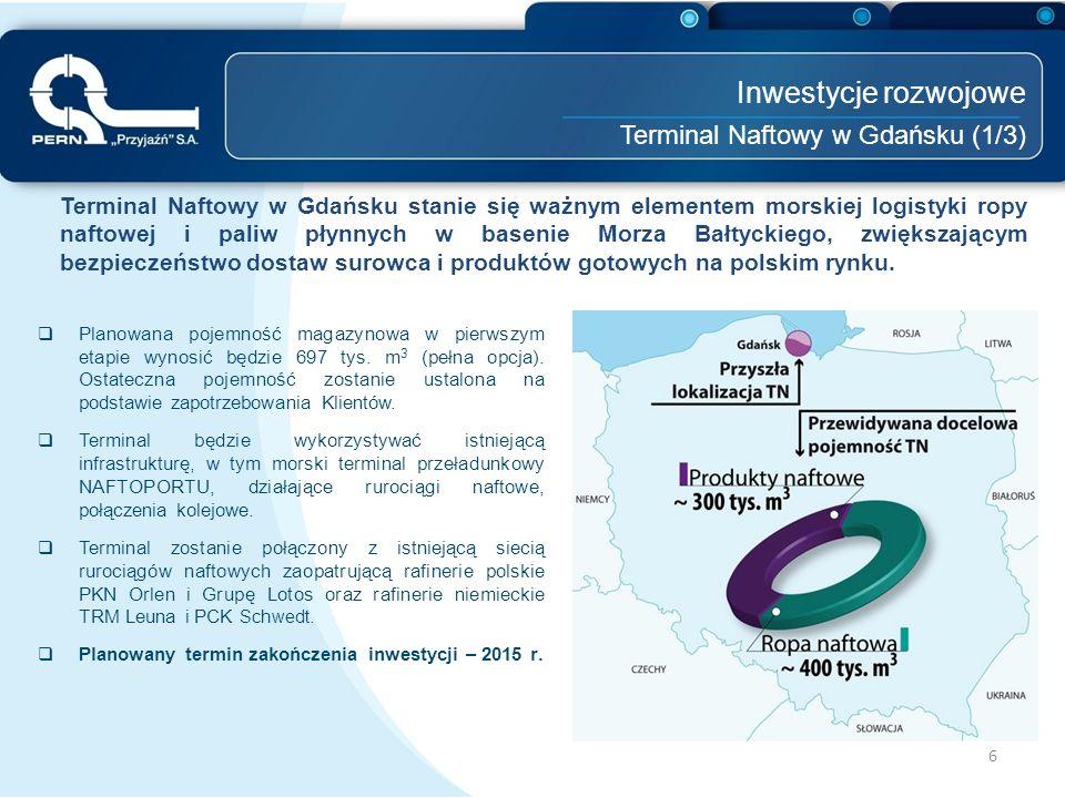 Inwestycje rozwojowe Terminal Naftowy w Gdańsku (1/3)