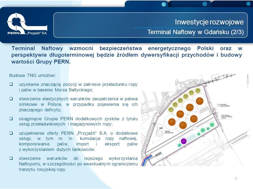 Inwestycje rozwojowe Terminal Naftowy w Gdańsku (2/3)
