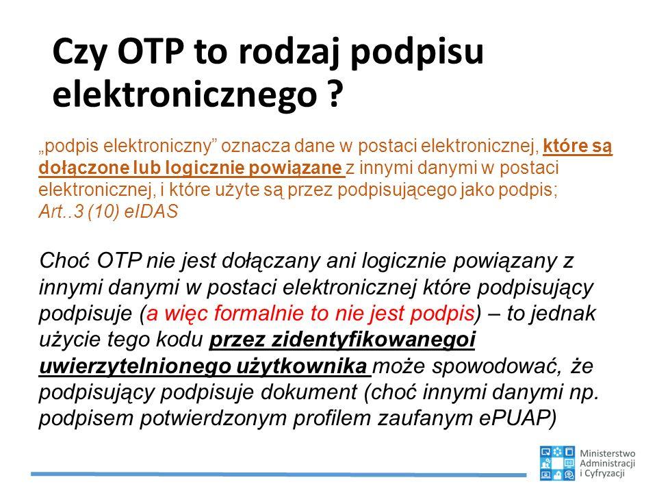 Czy OTP to rodzaj podpisu elektronicznego