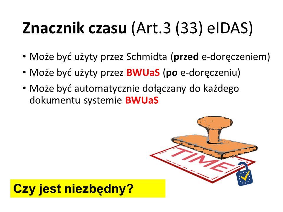 Znacznik czasu (Art.3 (33) eIDAS)