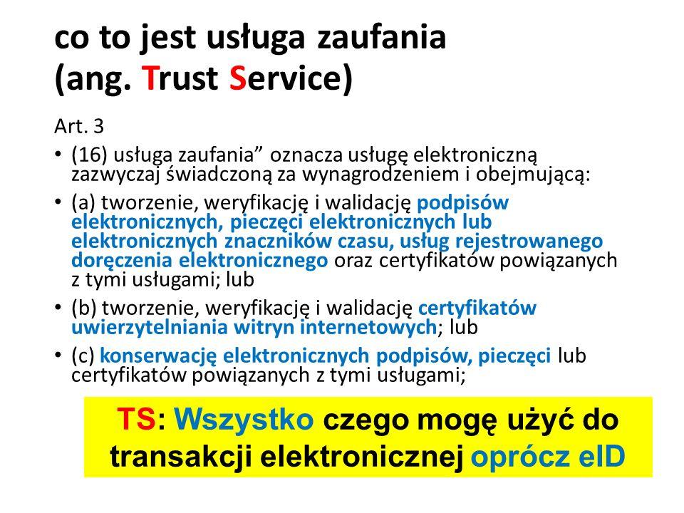 co to jest usługa zaufania (ang. Trust Service)