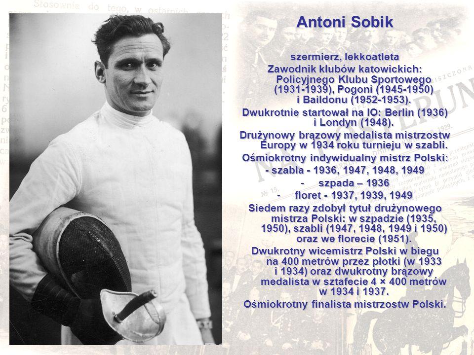 Antoni Sobik szermierz, lekkoatleta