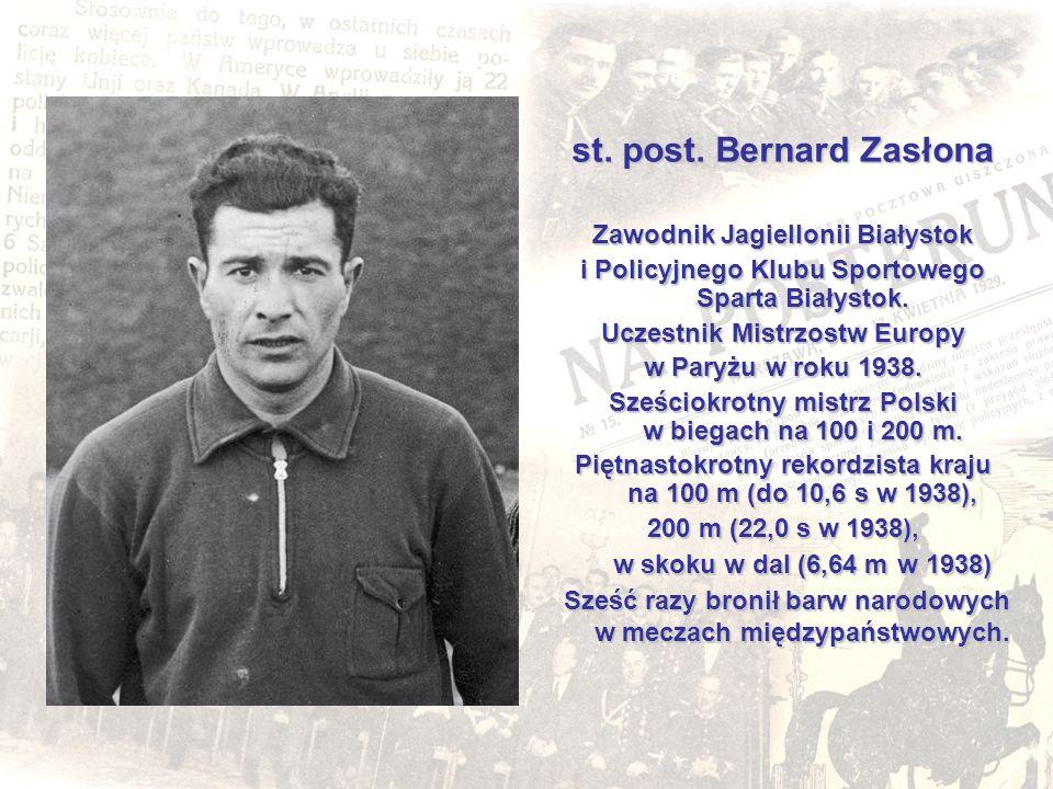 st. post. Bernard Zasłona