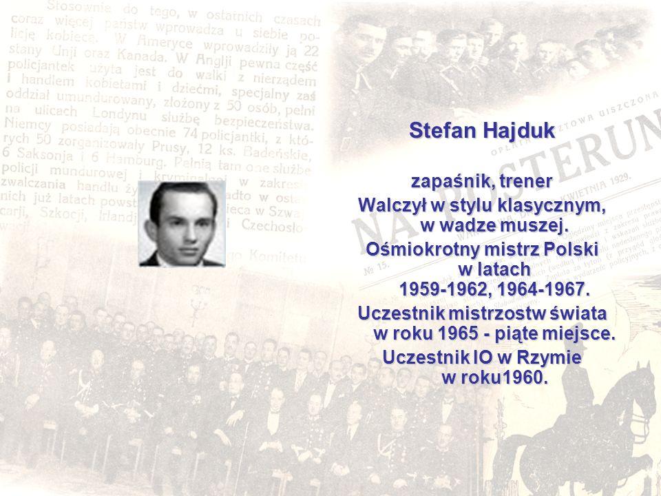 Stefan Hajduk zapaśnik, trener