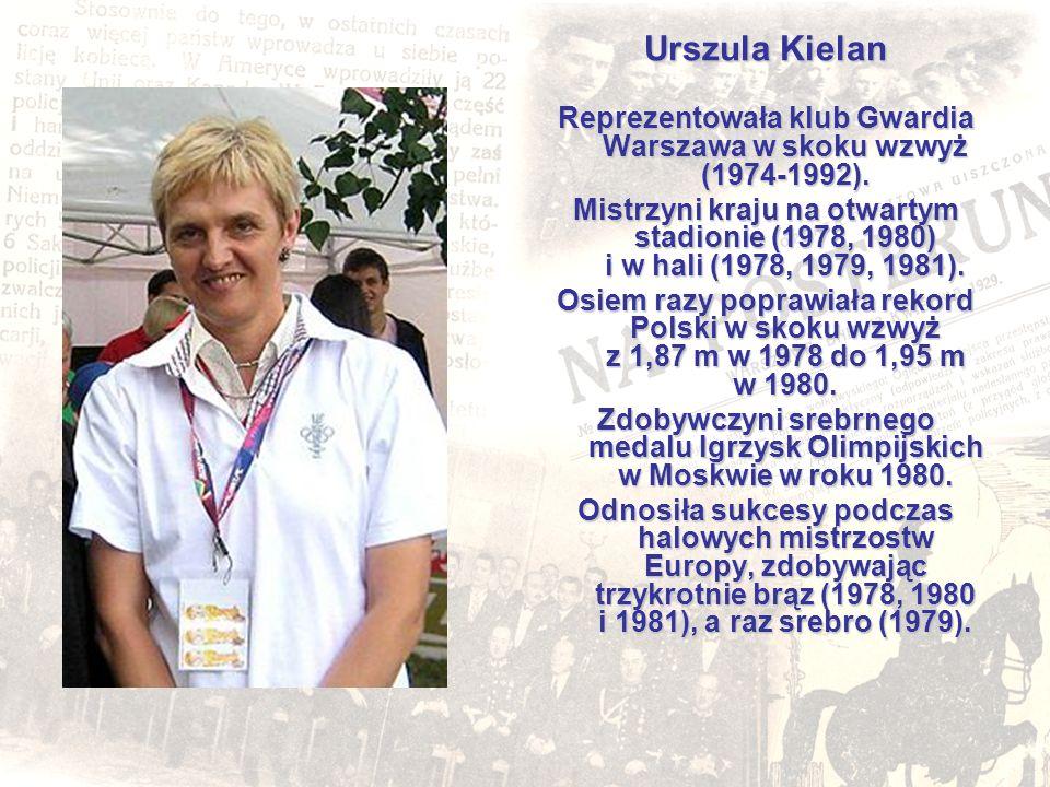 Reprezentowała klub Gwardia Warszawa w skoku wzwyż (1974-1992).