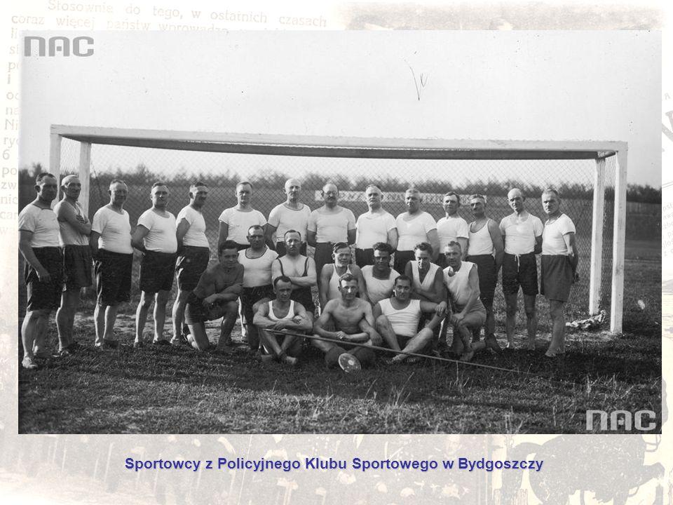 Sportowcy z Policyjnego Klubu Sportowego w Bydgoszczy
