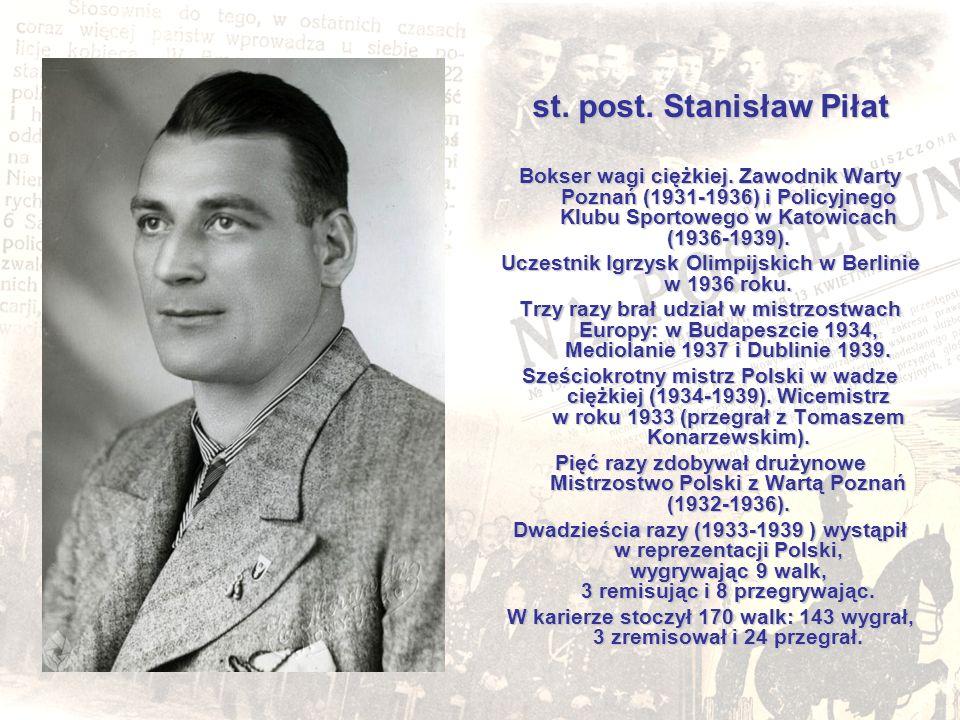 st. post. Stanisław Piłat