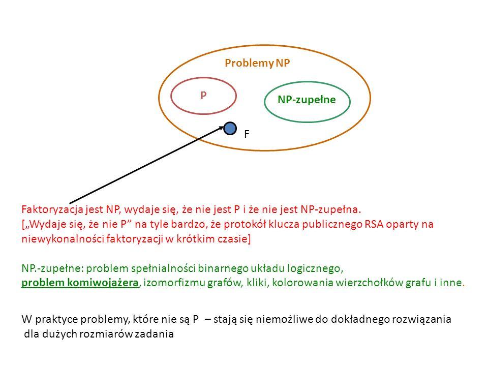 Problemy NP P. NP-zupełne. F.