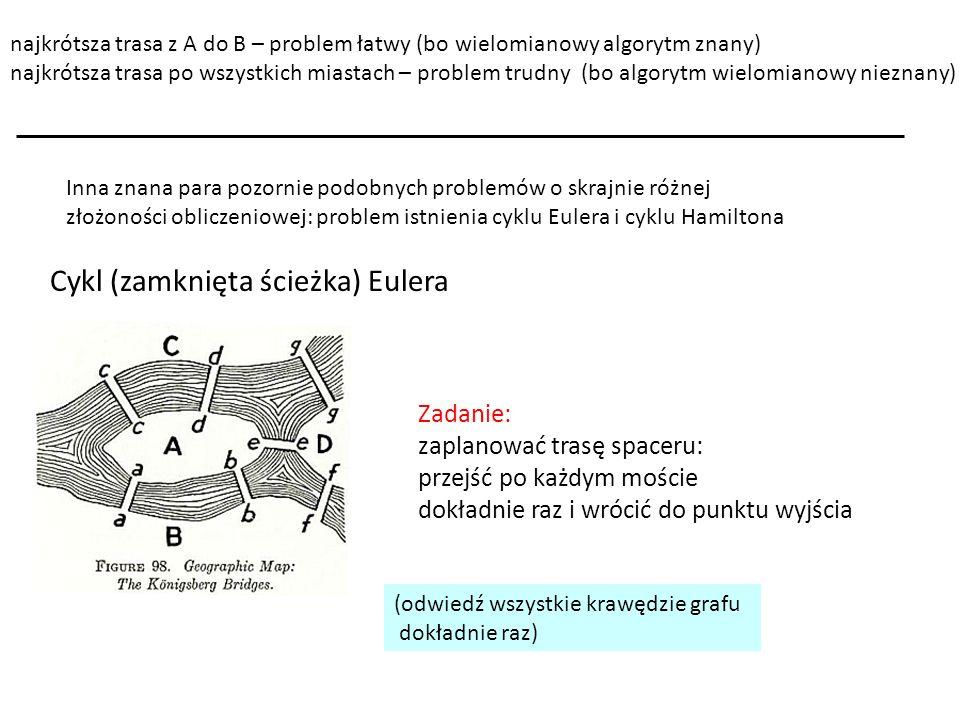Cykl (zamknięta ścieżka) Eulera