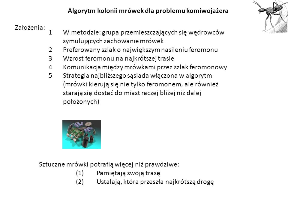 Algorytm kolonii mrówek dla problemu komiwojażera