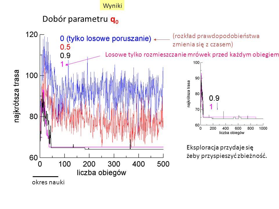 Dobór parametru q0 Wyniki (rozkład prawdopodobieństwa