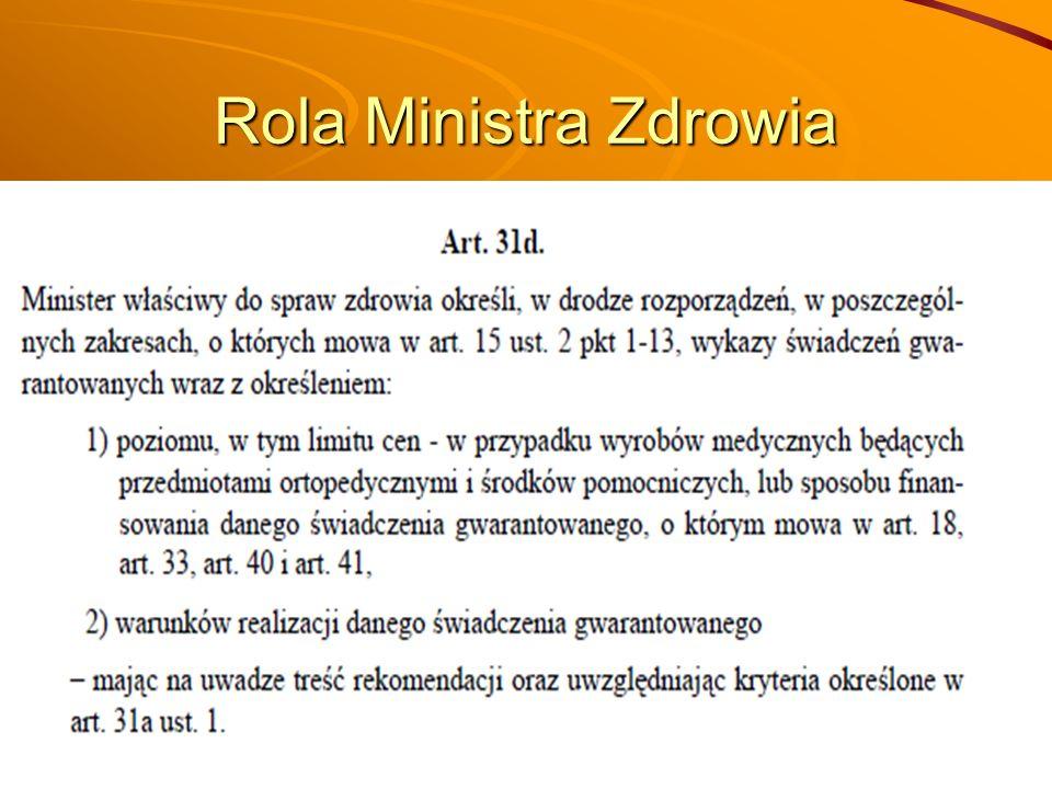Rola Ministra Zdrowia