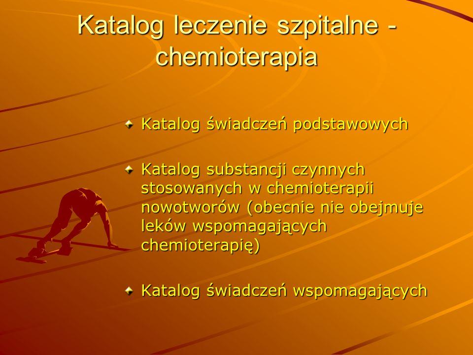 Katalog leczenie szpitalne - chemioterapia