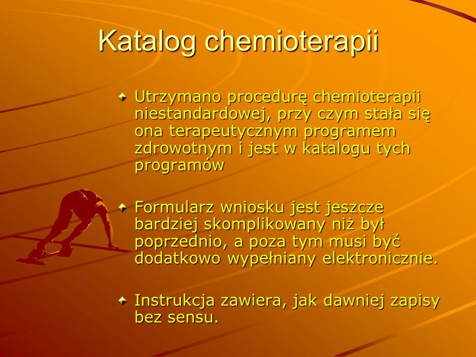 Katalog chemioterapii