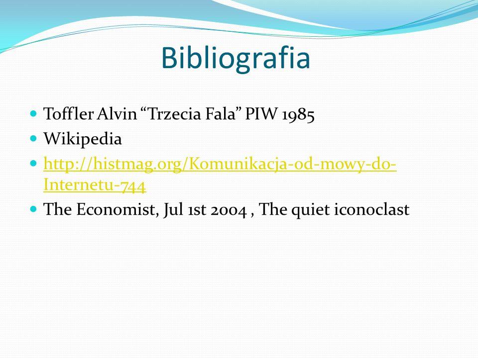 Bibliografia Toffler Alvin Trzecia Fala PIW 1985 Wikipedia