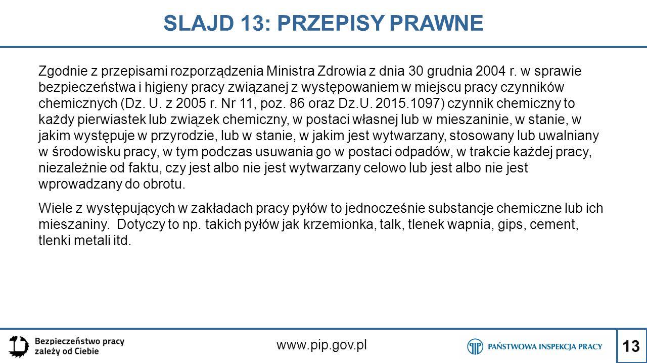 SLAJD 13: PRZEPISY PRAWNE
