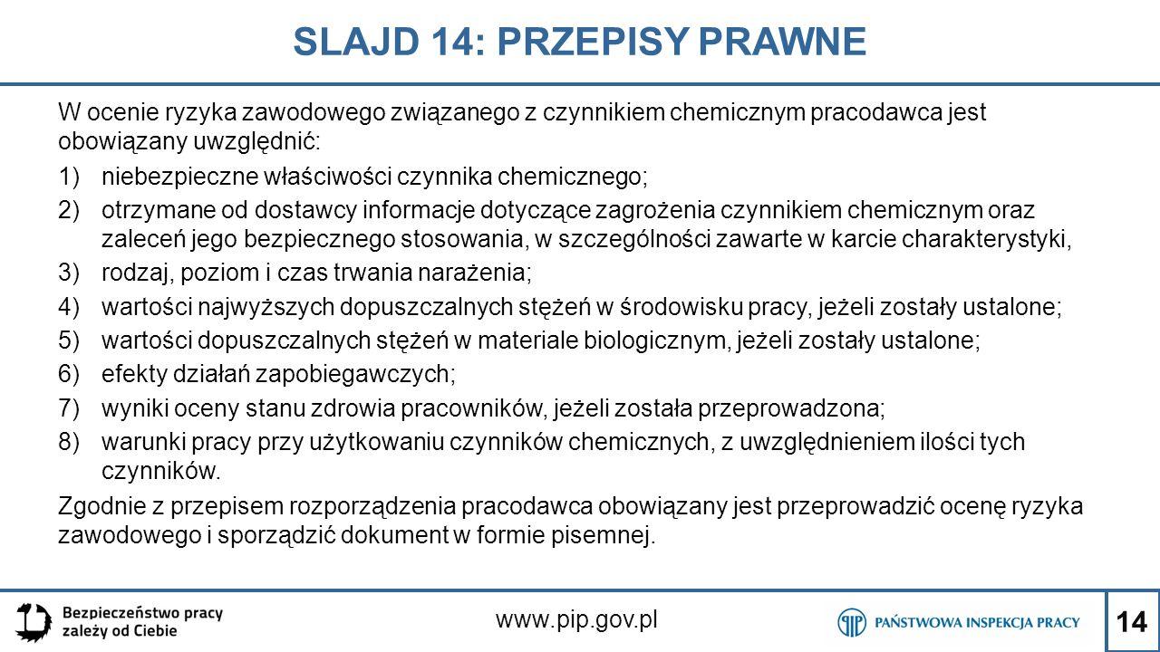 SLAJD 14: PRZEPISY PRAWNE