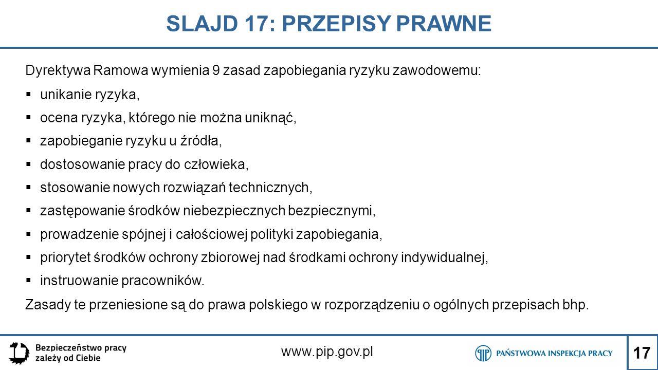 SLAJD 17: PRZEPISY PRAWNE