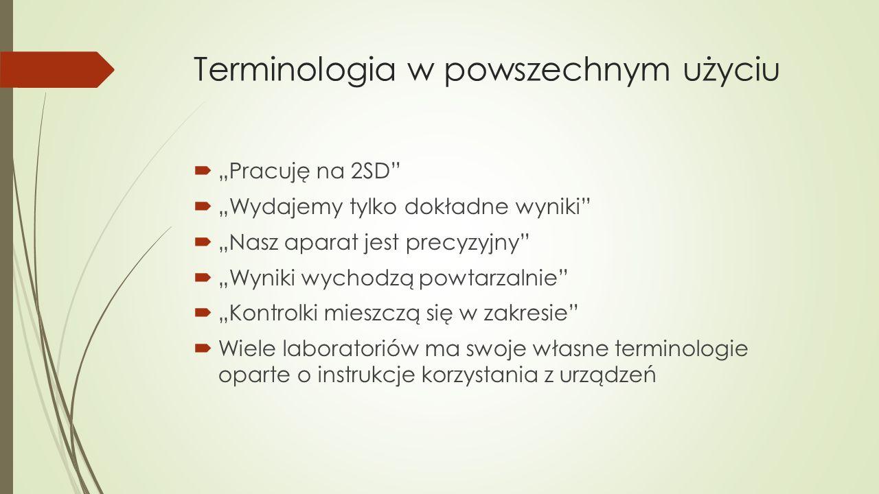 Terminologia w powszechnym użyciu
