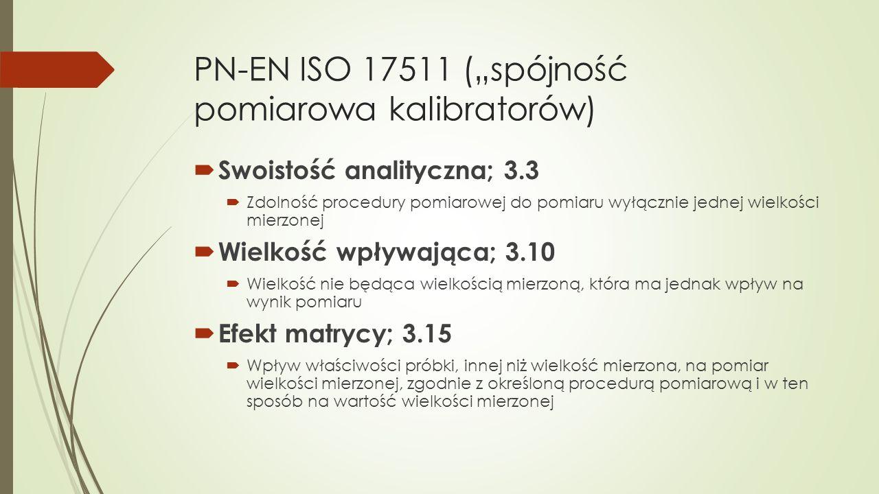 """PN-EN ISO 17511 (""""spójność pomiarowa kalibratorów)"""
