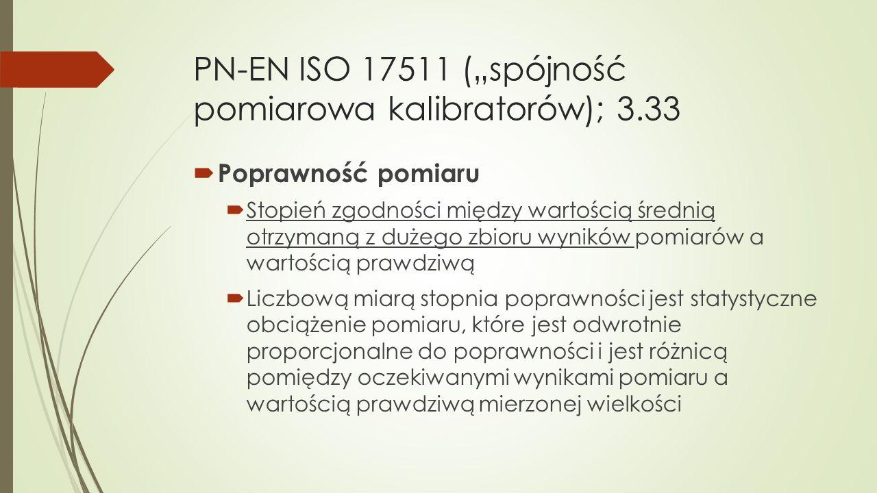 """PN-EN ISO 17511 (""""spójność pomiarowa kalibratorów); 3.33"""