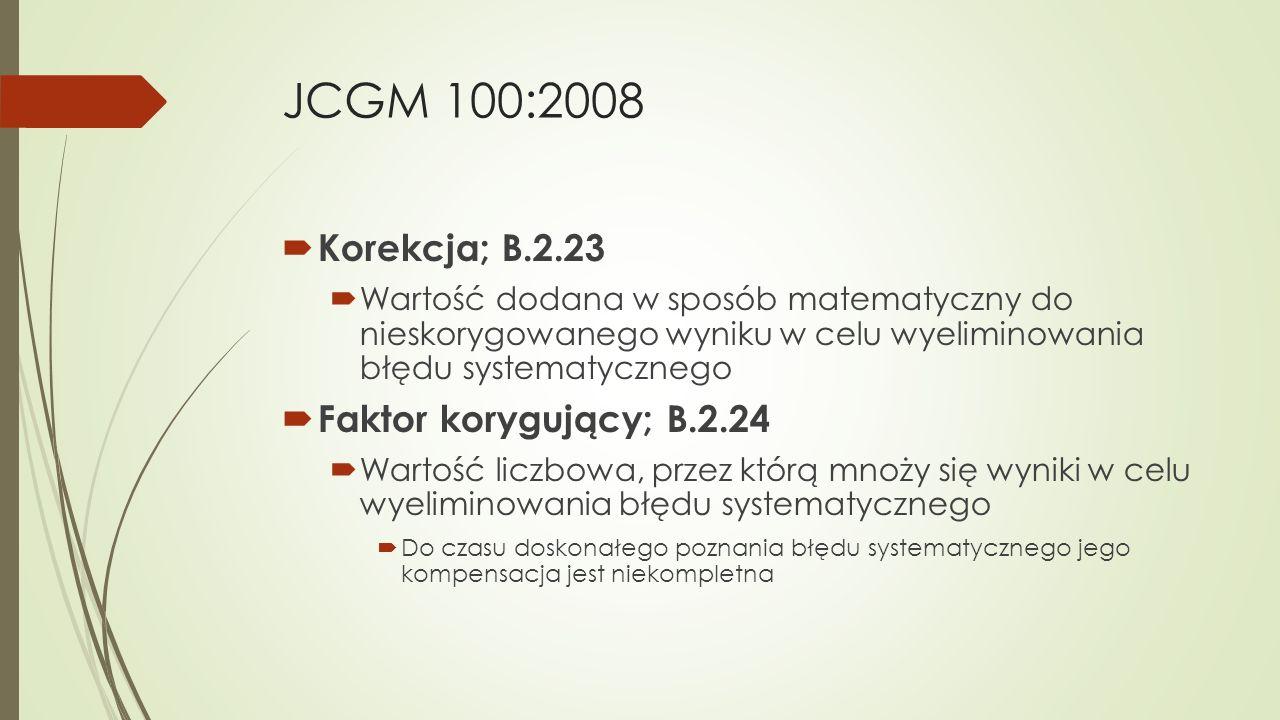 JCGM 100:2008 Korekcja; B.2.23 Faktor korygujący; B.2.24