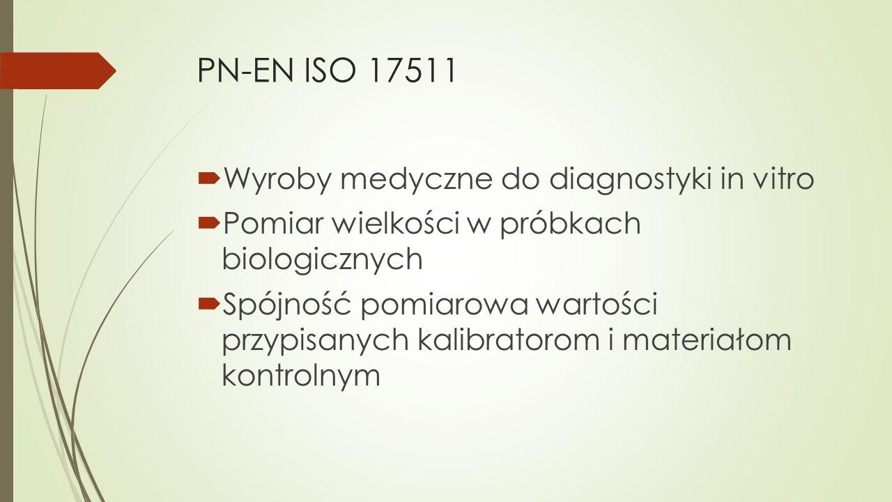 PN-EN ISO 17511 Wyroby medyczne do diagnostyki in vitro
