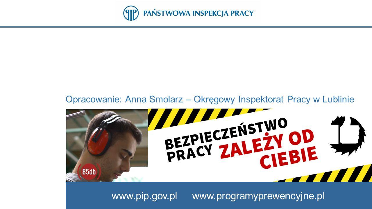 Opracowanie: Anna Smolarz – Okręgowy Inspektorat Pracy w Lublinie