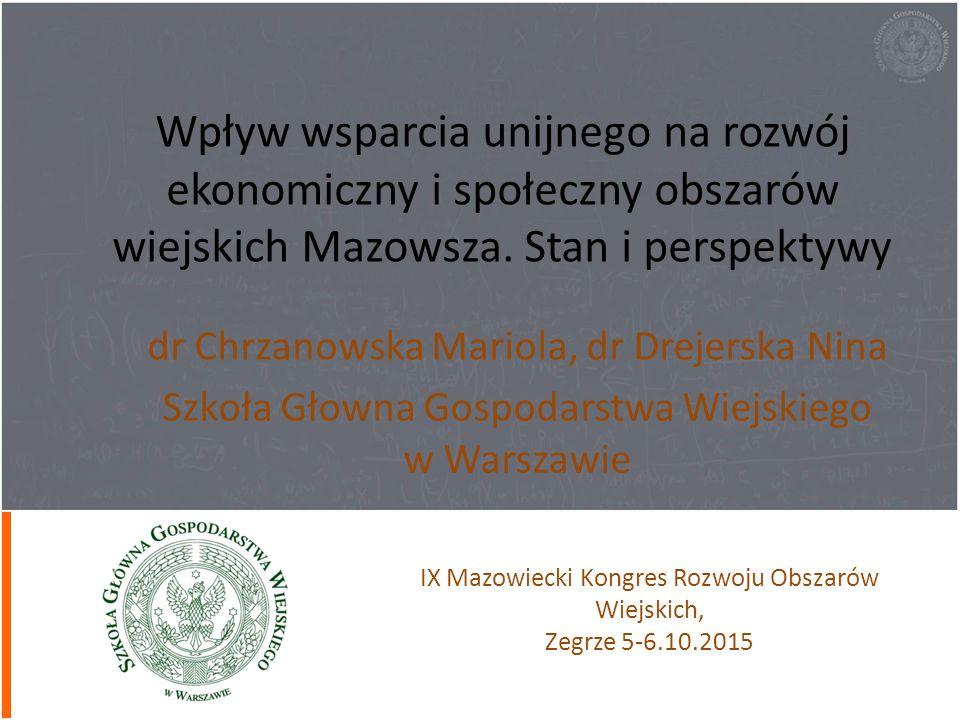 Wpływ wsparcia unijnego na rozwój ekonomiczny i społeczny obszarów wiejskich Mazowsza. Stan i perspektywy