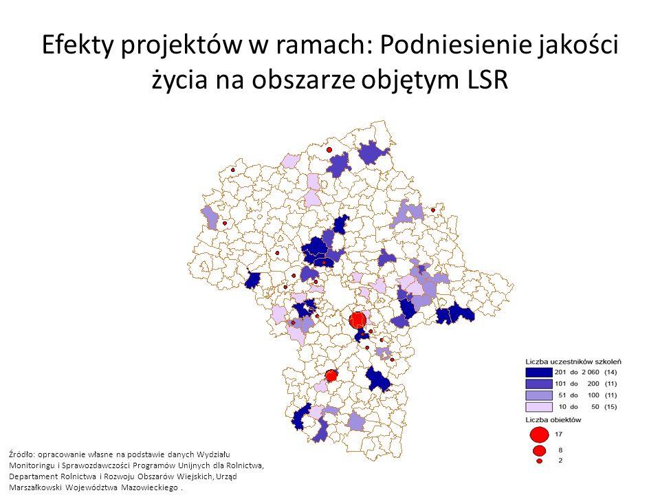 Efekty projektów w ramach: Podniesienie jakości życia na obszarze objętym LSR