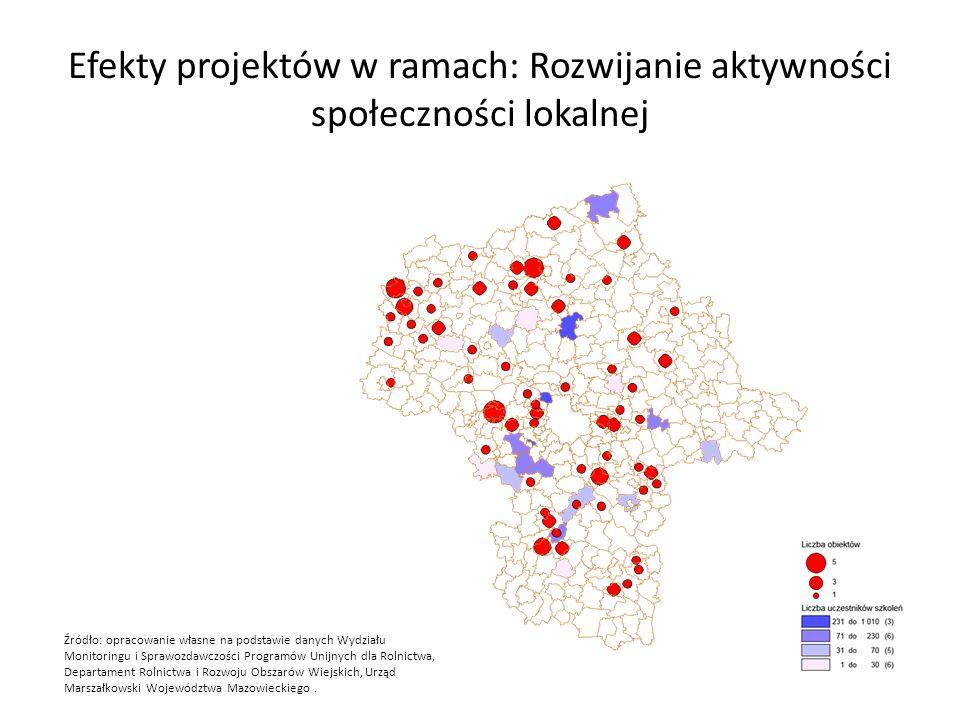 Efekty projektów w ramach: Rozwijanie aktywności społeczności lokalnej