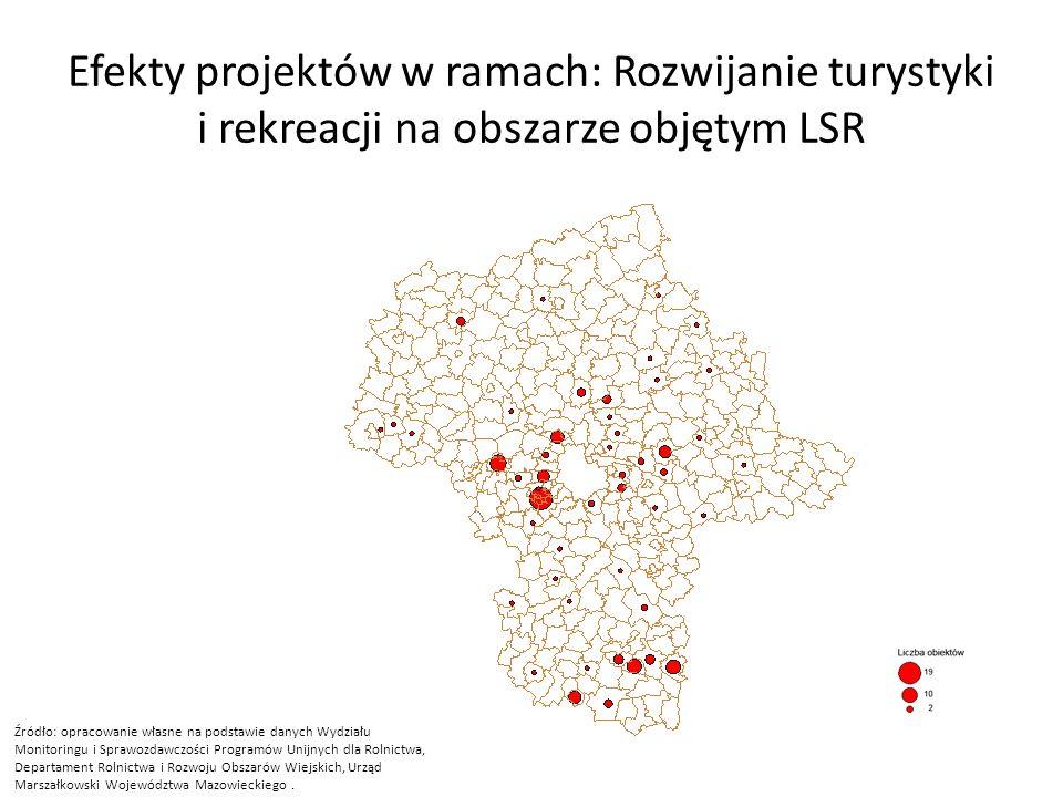 Efekty projektów w ramach: Rozwijanie turystyki i rekreacji na obszarze objętym LSR