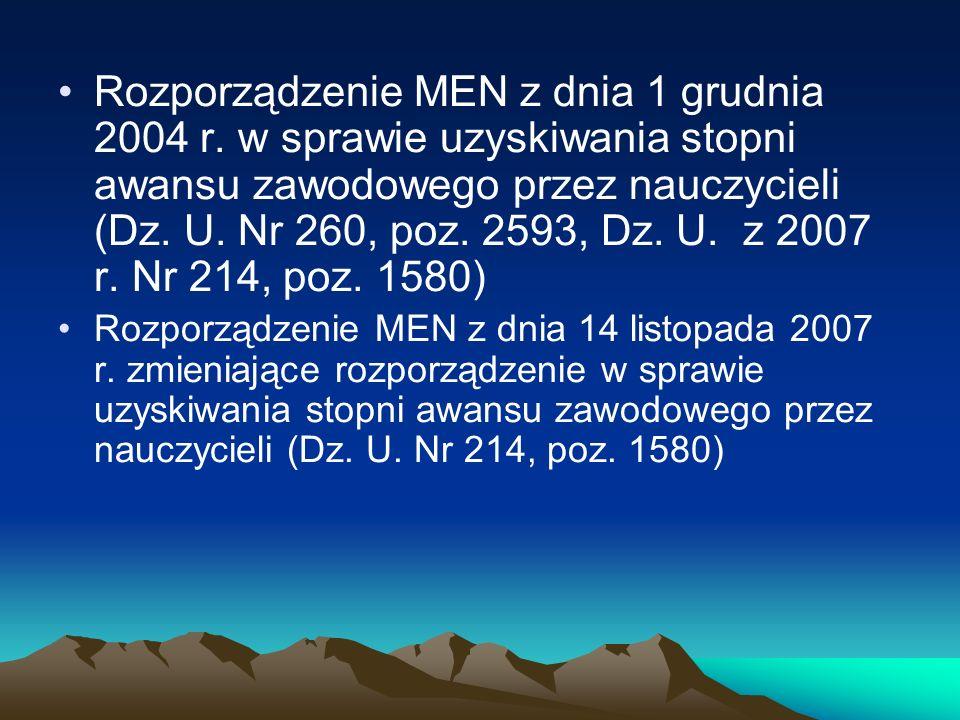 Rozporządzenie MEN z dnia 1 grudnia 2004 r