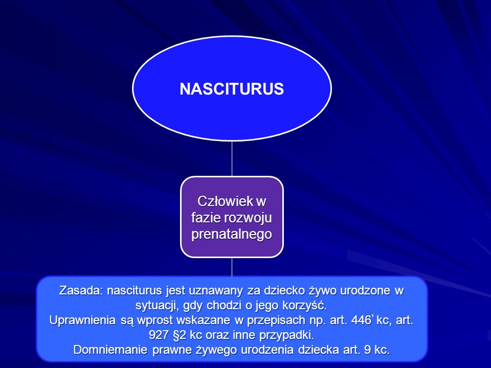 NASCITURUS Człowiek w fazie rozwoju prenatalnego